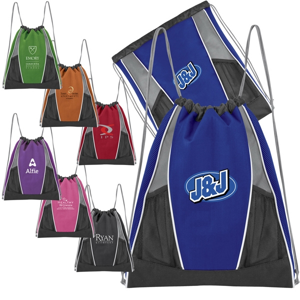 Color-me - Youth 600 Denier Polyester Sport Pack Has Drawstring Construction And Mesh Pockets Photo