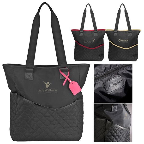 By-my-side Mia Collection - Black Microfiber Body Travel Bag Has Top Zipper Closure And Front/side Panel Pockets Photo