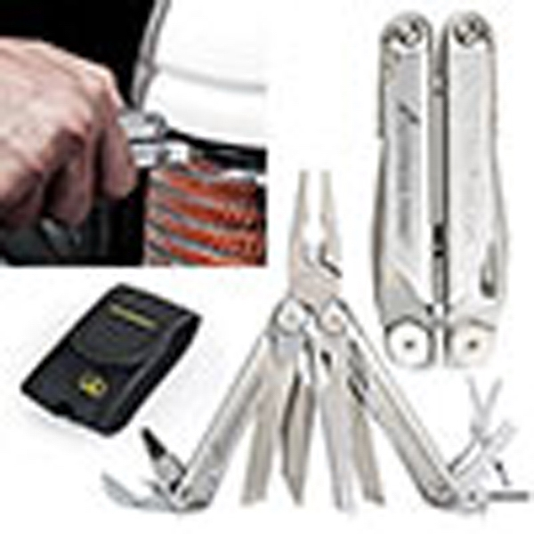 "Leatherman (r) Wave (r) - Combination Knife/tool Set. Stainless Steel Body. 4"" Closed Photo"