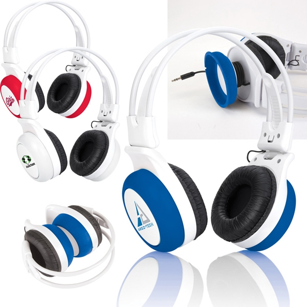 Silly Ears - Full Size Adjustable Silicone Stereo Headphones With Plush Cushioning Photo