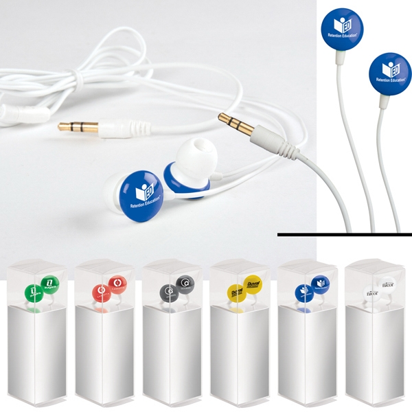 Candy - Earbuds With Round 3d Plastic Disks Made From Silicone With 9.0 Mm Speaker Photo