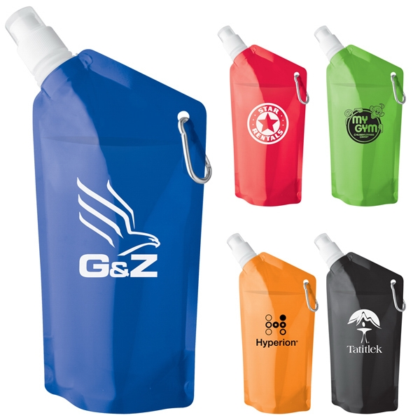 Sip-n-store - 20 Oz. Water Bag Is Lightweight, Reusable, Folds Up And Bpa Free Photo