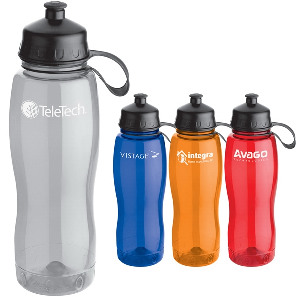 Bubble - 20 Oz. Translucent Water Bottle With Chubby Design Made Of Durable Tritan (tm) Photo