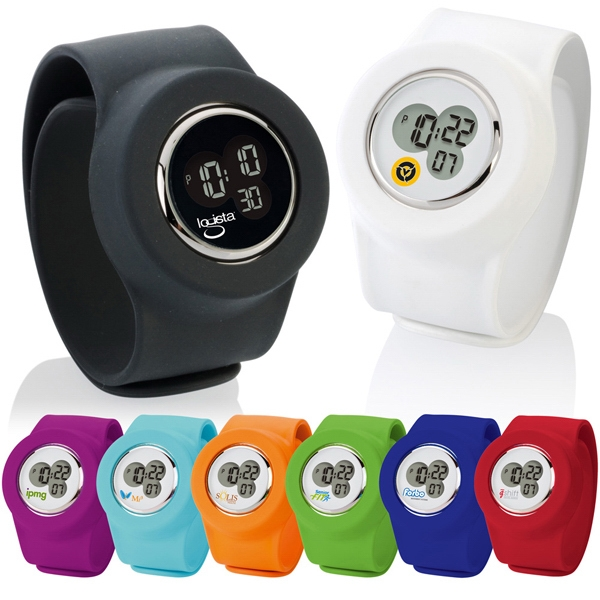 Slap-on - Digital Analog Watch With Flexible, Waterproof Silicone Band Photo