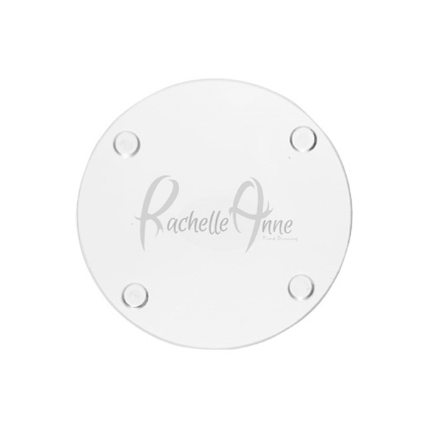 4 Inch Round Glass Coaster