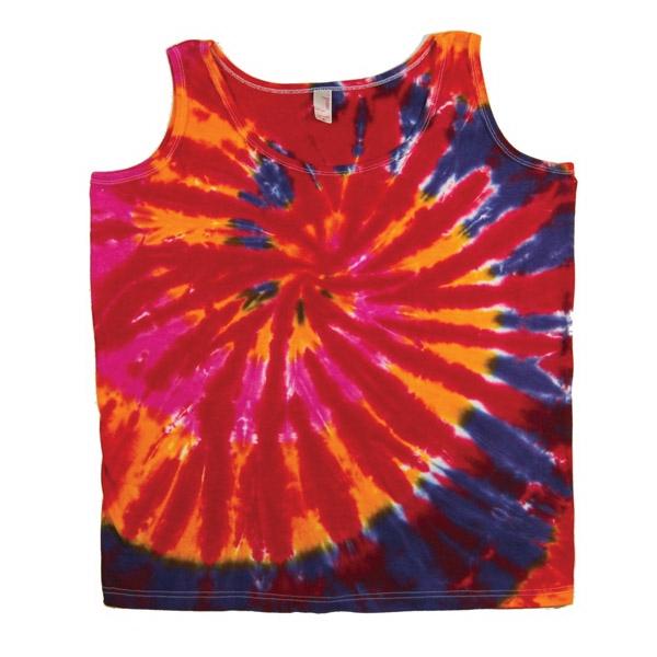 Multicolor Tie Dye Web Women's Tank Top