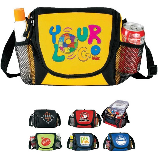6-pack Lunch Cooler: Poly 600d, Insulated, Heat Sealed Lining, Photo