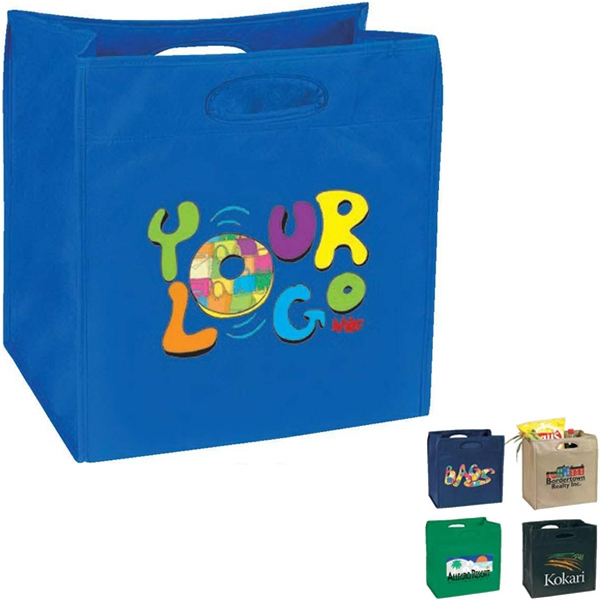 "Egreen - All Purpose Tote Ii. 90g Non Woven Polypropylene. Approximate Size: 14"" X 15"" X 9"" Photo"