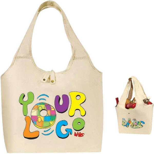 Egreen - Roll Up Tote I.8 Oz 100 Percent Raw Cotton Canvas. Reusable, Washable Photo