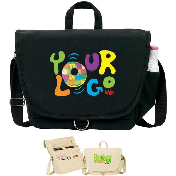 Egreen - Canvas Messenger Bag, 12 Oz Cotton Canvas. Recyclable, Reusable, Washable Photo