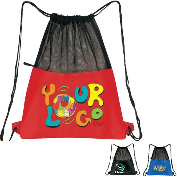 Mesh Drawstring Pack, Nylon 21d Plus Mesh Photo
