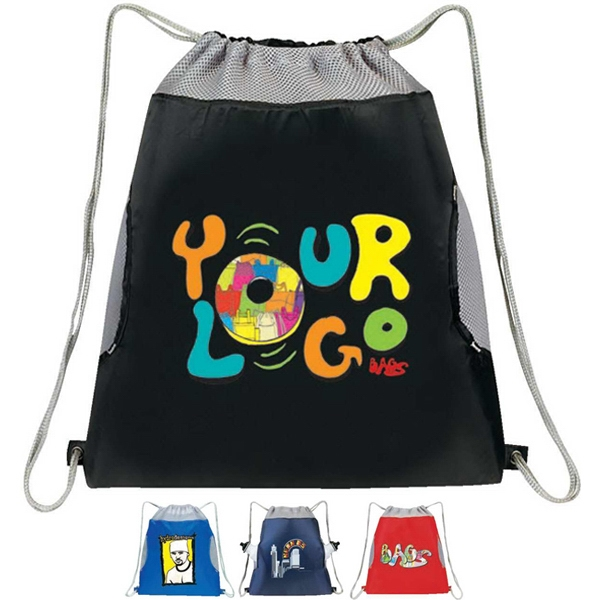 Air Mesh Drawstring Pack. Nylon 21d Plus Mesh Photo