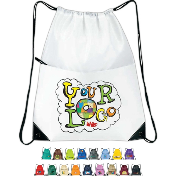 "All-purpose Drawstring Tote Ii. 210d Nylon. Approximate Size: 15"" X 18"" Photo"