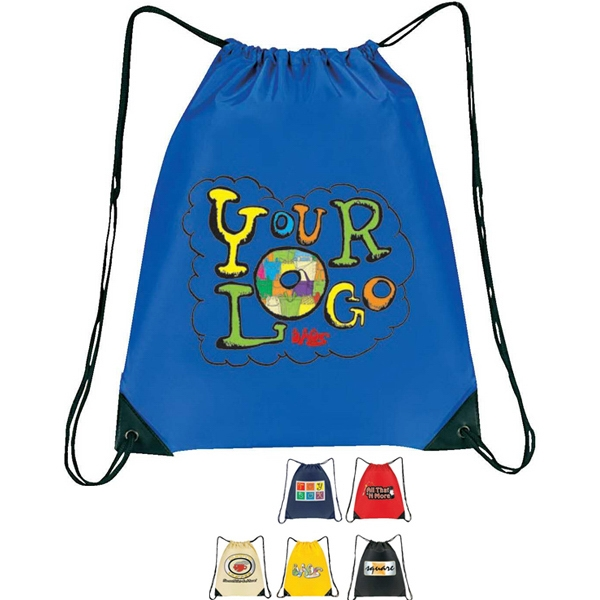 "All-purpose Drawstring Tote Iii. Nylon 210d. Approximate Size: 15"" X 18"" Photo"