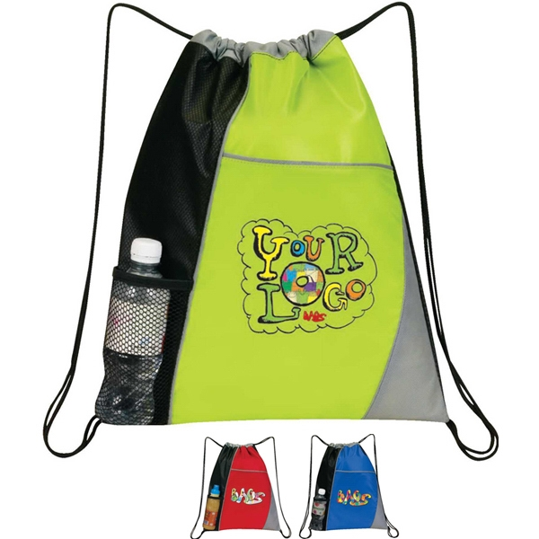 It - Drawstring Bag.: 210d Pu Plus Diamond Non Woven Polypropylene Photo