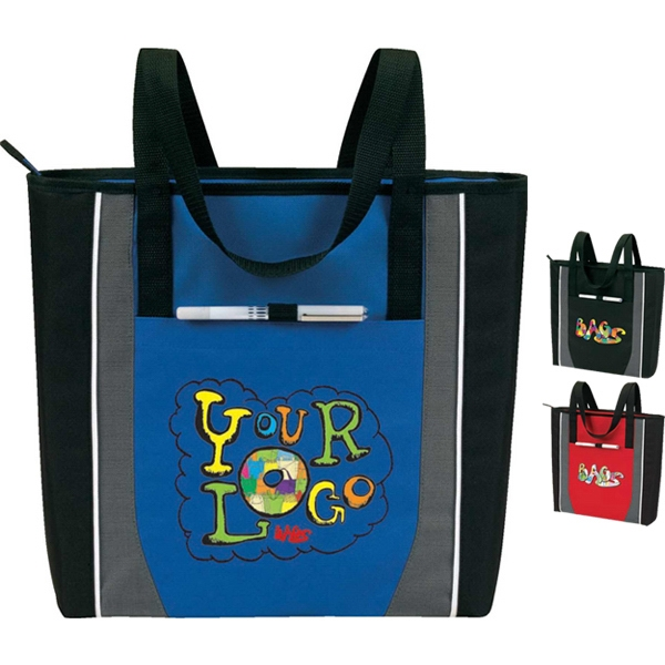 Prime - A Zip Tote: Poly 600d Plus Linen. Great For Promotional Events, Trade Shows, Etc Photo