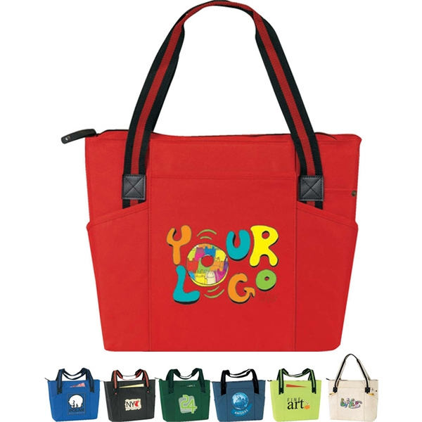 "Urban - Zip Tote, Poly 600d. Approximate Size: 20"" X 13.5"" X 6"" Photo"