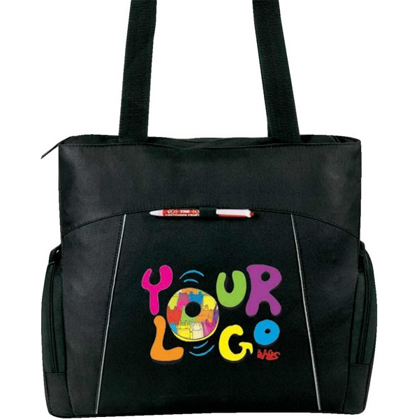 "Universal (r) - Laptop Tote Bag, Poly 600d. Approximate Size: 18"" X 15"" X 5.5"". Fits 15.6"" Laptop Photo"