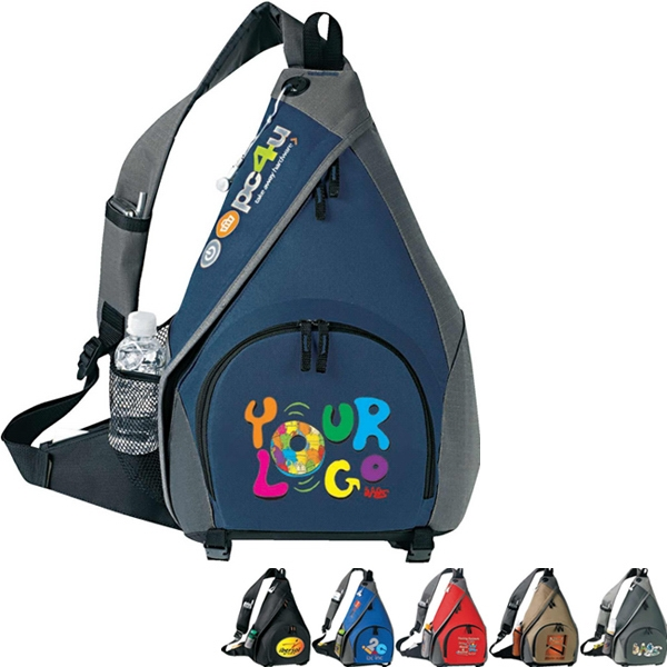 "Mono Strap Backpack. Poly 600dplus Poly Ripstop. Approximate Size: 13.5"" X 20"" X 6"" Photo"