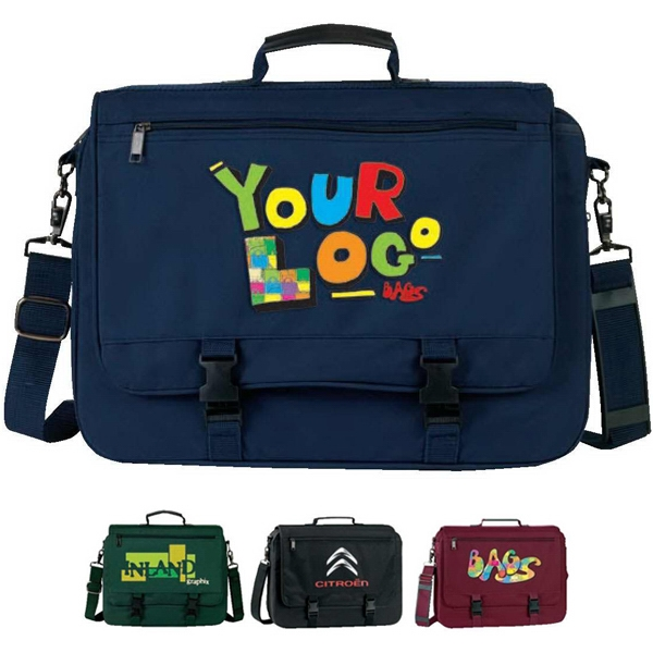 "Expandable Briefcase. Poly 600d. Approximate Size: 16.5"" X 12"" (3.5"" To 5.5"") Photo"