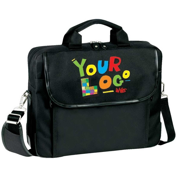"Presentation Laptop Brief. Poly 600d And Faux Leather Trim. Fits Up To 15.6"" Screen Photo"