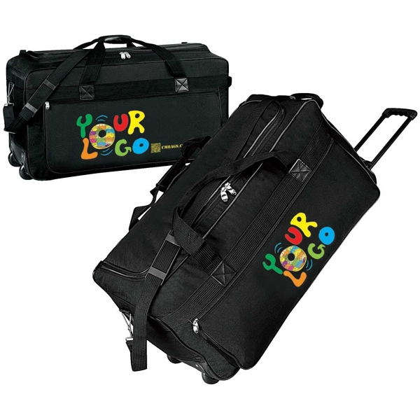 "25"" Wheeled Duffle Bag. Poly 600 Denier. Approximate Size: 25"" X 13"" X 11"" Photo"