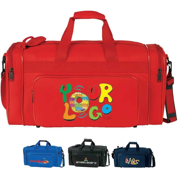 "21"" Sport Bag. Poly 600d. Approximate Size: 21"" X 10.25"" X 9.5"" Photo"