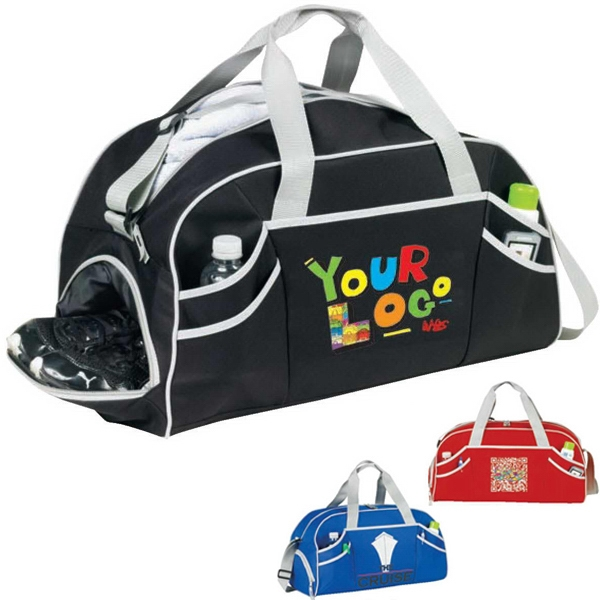 "Fusion (r) - Sport Duffle Bag. Poly 600d. Approximate Size: 20"" X 10"" X 10"" Photo"