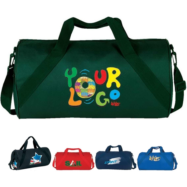 "Economy Roll Duffle Bag. Poly 600d. Approximate Size: 18"" X 10"" X 10"" Photo"