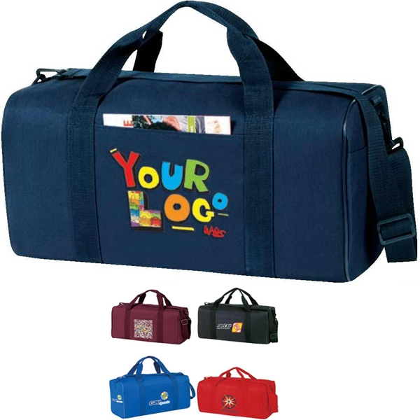 "Economy Square Duffel Bag. Poly 600d. Approximate Size: 19"" X 9"" X 9"" Photo"