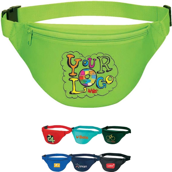 "2-zipper Fanny Pack. Poly 600d. Approximate Size: 14"" X 6"" X 3"" Photo"
