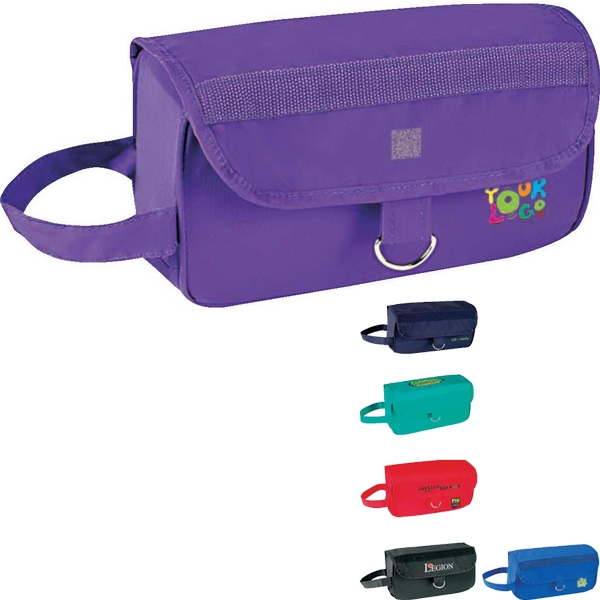 "Roll-up Travel Kit. Vylon/ Nylon; Approximate Size; 10"" X 6"" X 4"" Photo"