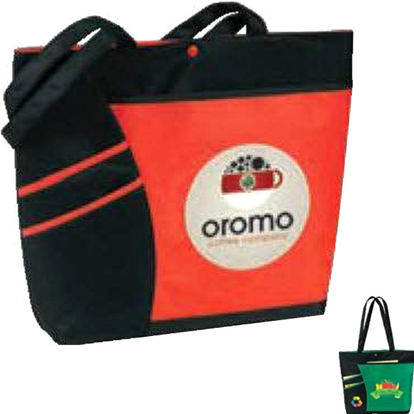 Egreen - Accent Tote. 120g Pet Plus Non Woven Polypropylene. While Supplies Last Photo