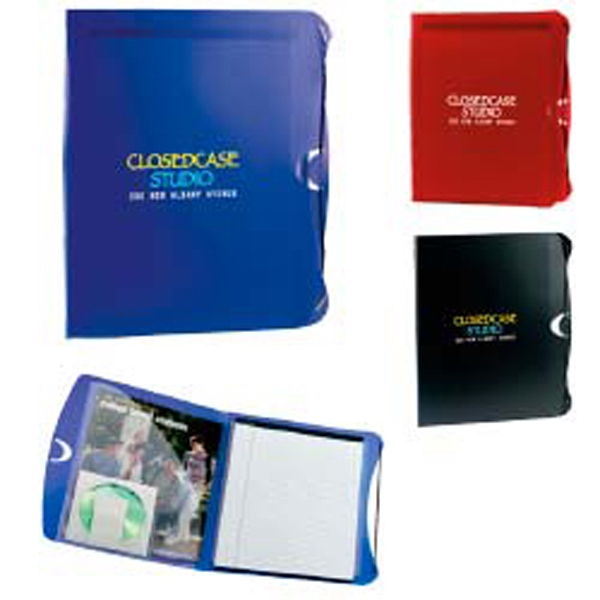 Polypro - Frosted Polypropylene Padfolio With Pocket For Papers, Business Cards And A Cd Photo