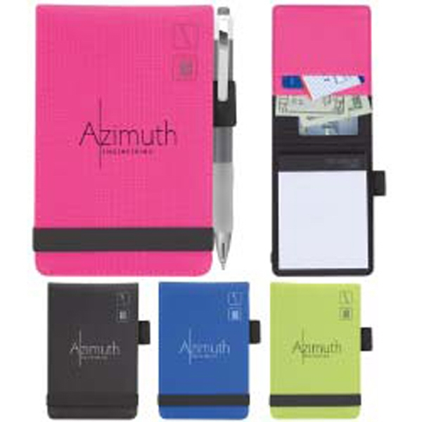 Iconic - Notepad With Exterior Pen Loop, Two Business Card Pockets And Elastic Band Closure Photo