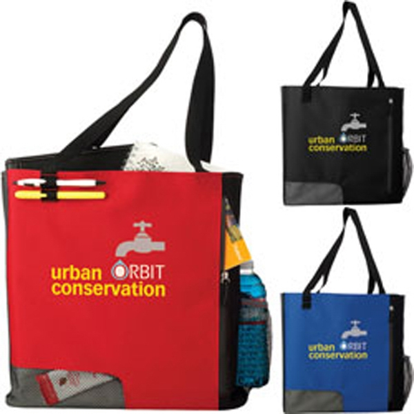 City Atchison (r) - Polyester Tote Has Front Zippered Pocket With Mesh Panel Photo