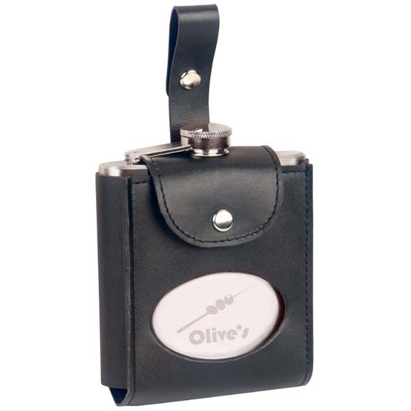 Fairway - Six Ounce Flask With Bonded Leather Case Photo