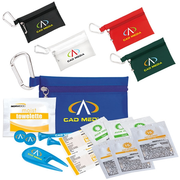 "Golfer's Sun Protection Kit - 2-3/4"" Tee"