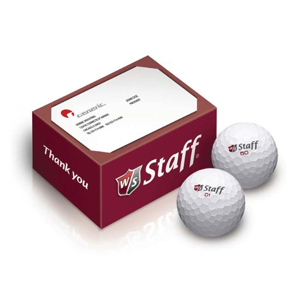 Wilson (R) 2-Ball Thank You Box
