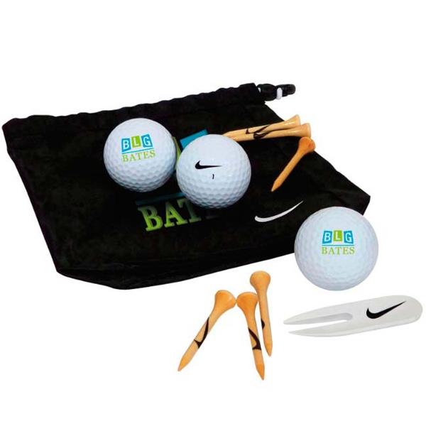 Nike (R) Golf Valuables Pouch 3 Ball Kit - NDX Heat