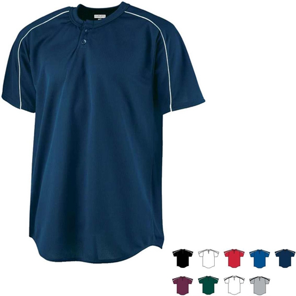 2 X L - 100% Polyester Performance Adult Baseball Jersey. Sold Blank Photo