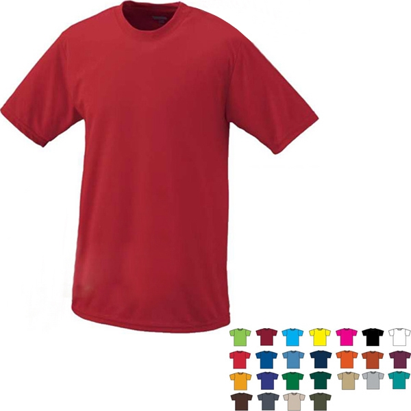 4 X L - 100% Polyester Performance Adult T-shirt With Set-in Sleeves. Sold Blank Photo