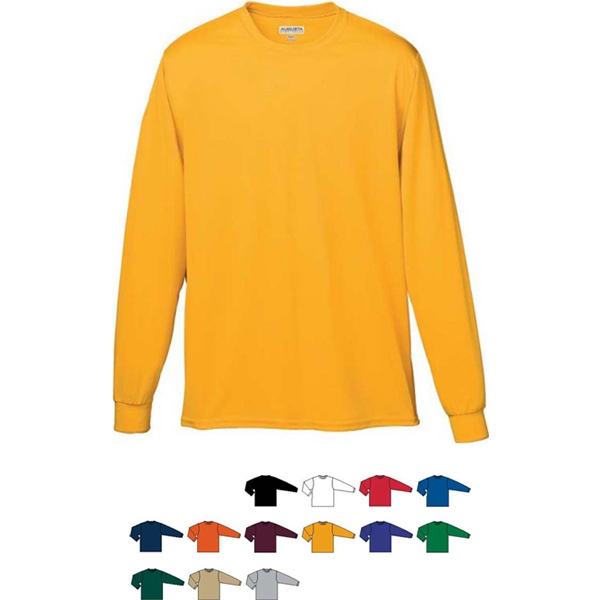 Youth Wicking Long Sleeve T-shirt. Sold Blank Photo