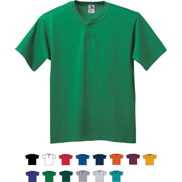 Youth Six-ounce Two-button Baseball Jersey With Set-in Sleeves. Sold Blank Photo