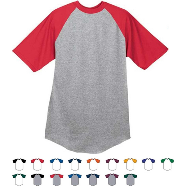 Athletic Heather 3 X L - Adult Short Sleeve Baseball Jersey. Sold Blank Photo