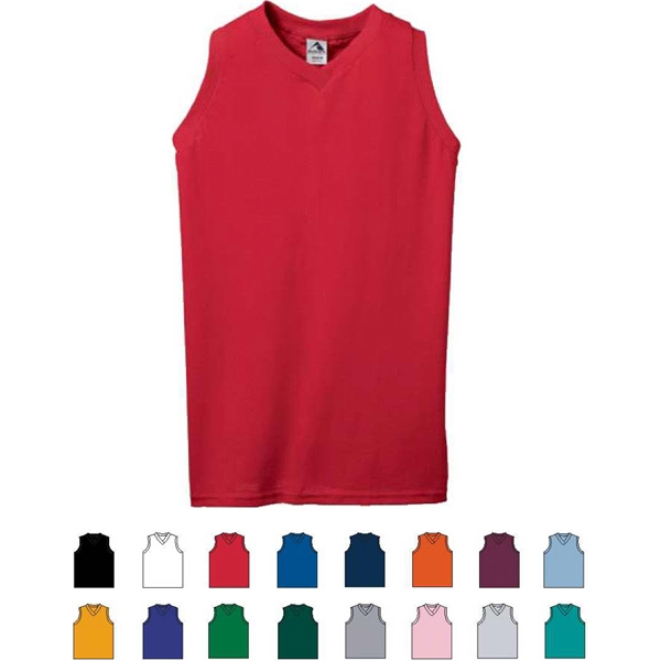 Colors 2 X L - Ladies Fit V-neck Poly/cotton Knit Jersey. Sold Blank Photo