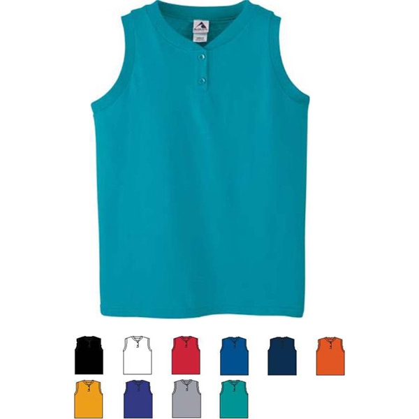 Girls Poly/cotton Sports Jersey. Sold Blank Photo