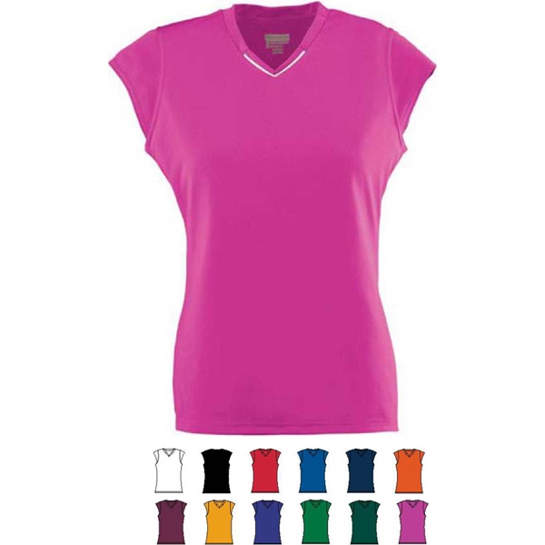 Rally - Girls Polyester Performance Jersey With Set-in Cap Sleeves. Sold Blank Photo