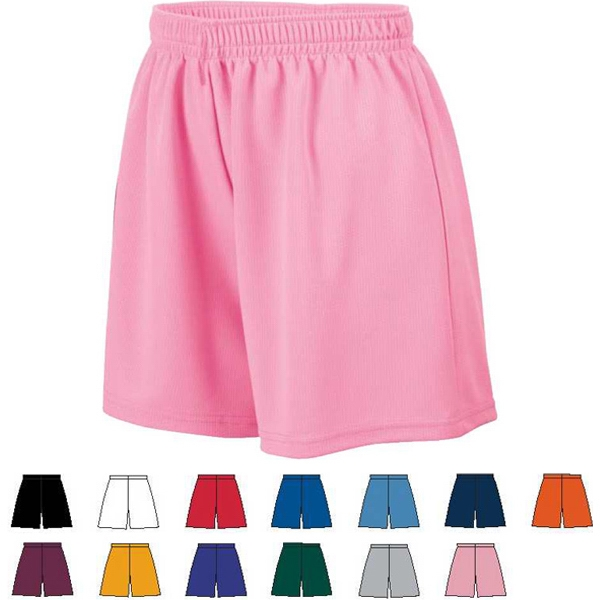 Girls 100% Polyester Wicking Mesh Short. Sold Blank Photo