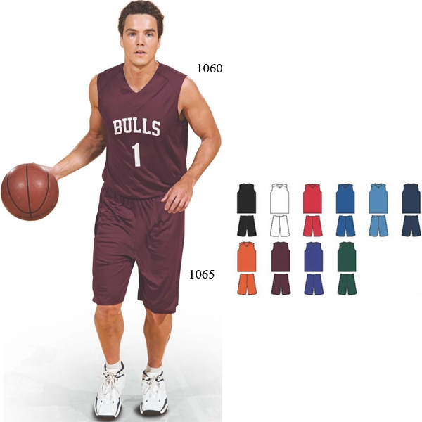 Baseline - Youth Polyester Performance Basketball Shorts. Sold Blank Photo